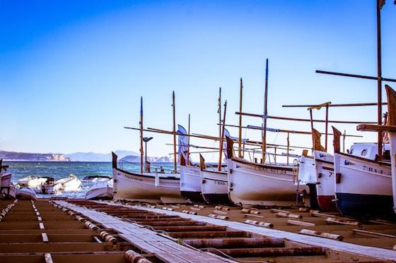 barche a secco al marina