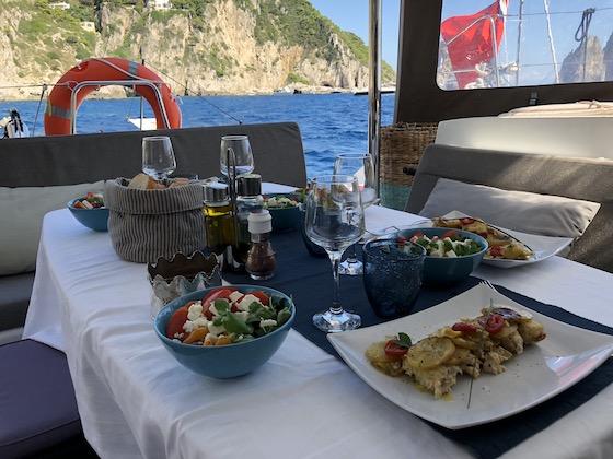 Mangiare in barca