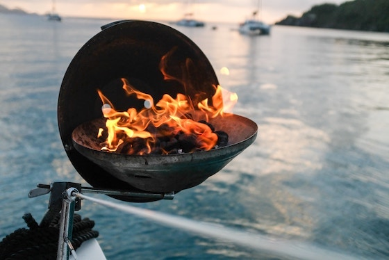 boat barbecue