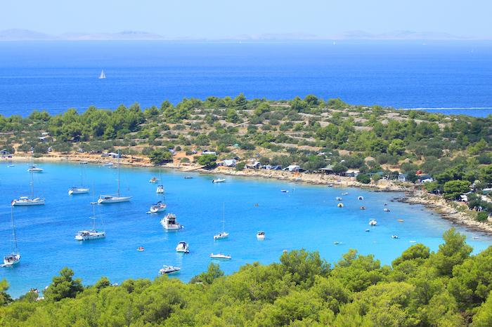 vista aerea della costa croata