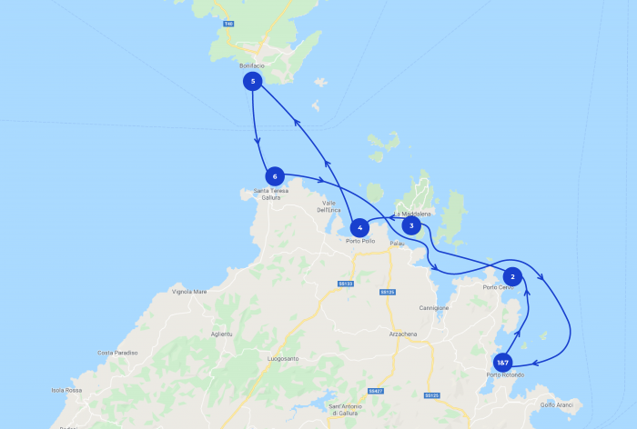Itinerario Costa Smeralda in barca