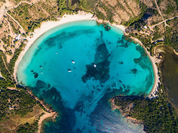 Giro della Corsica in barca: Spiaggia di Rondinara
