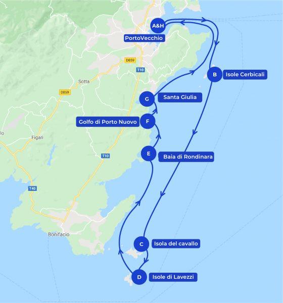 crociera itinerario corsica sud