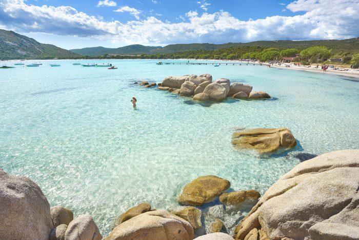 Barca a vela Corsica: Spiaggia di Santa Giulia